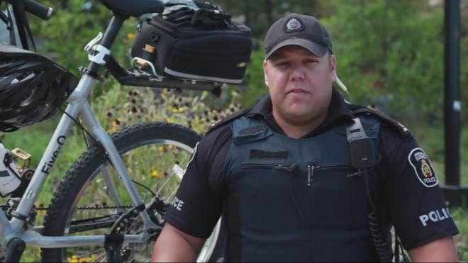 Greater Sudbury Police Service is mourning the death of one of its members — Const. Christopher Labreche — killed in a two-vehicle crash on Highway 69 on July 4. (File)