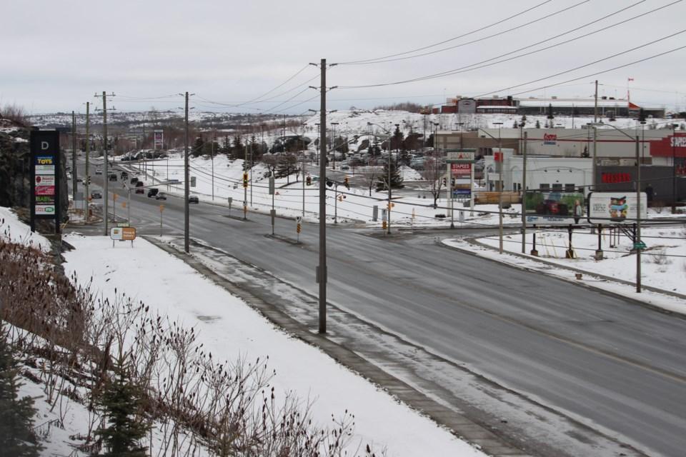 The Kingsway near noon on March 26. (Arron Pickard / Sudbury.com)