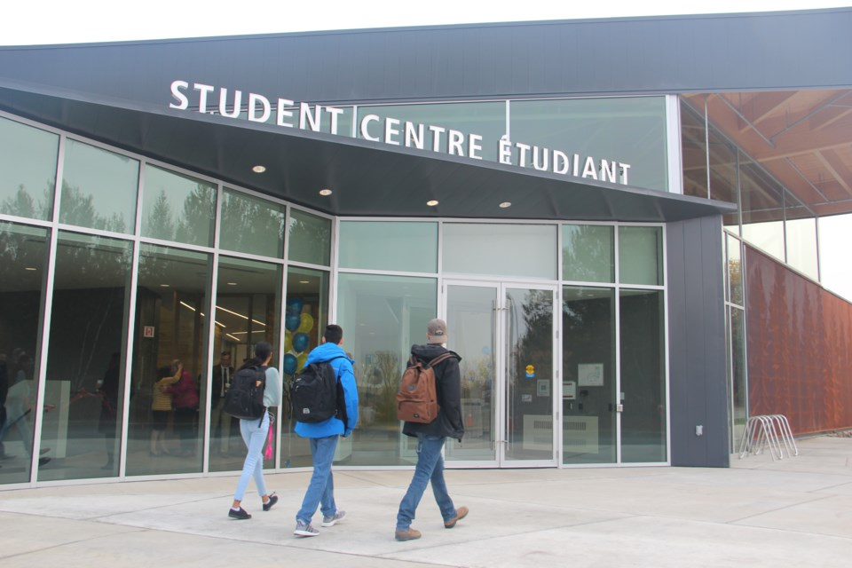 The new Student Centre on Laurentian University's campus officially opened Monday morning. (Heidi Ulrichsen/Sudbury.com)