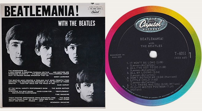 Capitol Records released Beatlemania! With the Beatles in Canada Nov. 25, 1963.