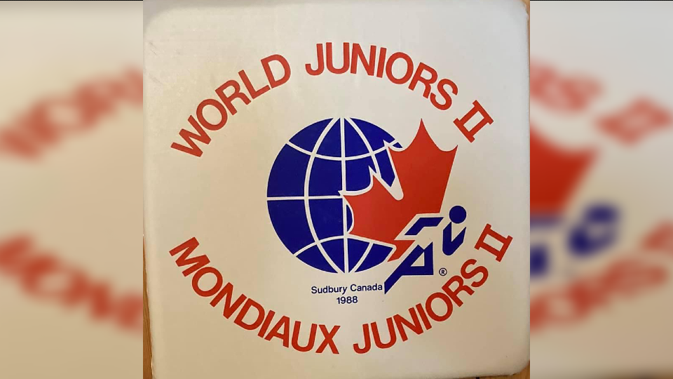 The logo for the 1988 World Junior Track and Field Championships.