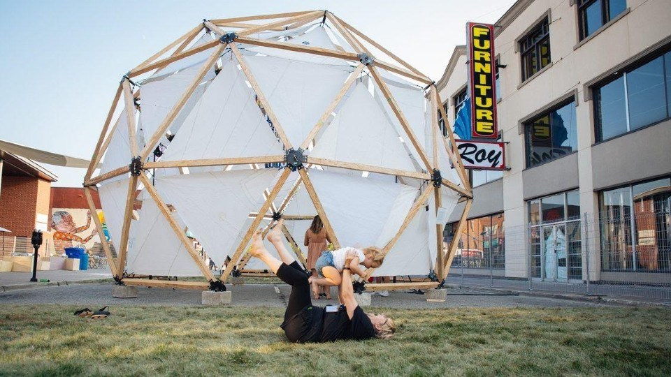 Up Here 7 is almost here and so is the iconic geodesic dome.