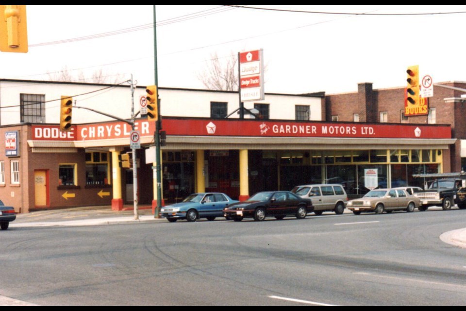 Gardner Motors was a local landmark at the corner of Lorne and Elm for six decades. (Supplied)