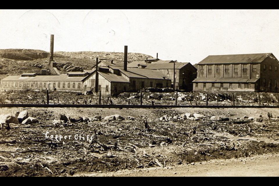Early mining brought environmental devastation to this area, as seen in this historic photo of Copper Cliff. (Supplied)