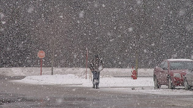 Heavy flurries may reduce visibility overnight