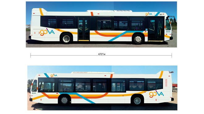The new logo, colours and bus designs were unveiled Tuesday ahead of a major change to Sudbury Transit coming Aug. 26. (Supplied)