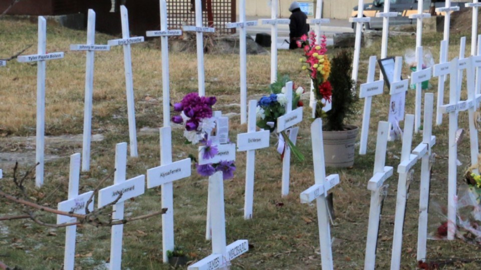 The white crosses memorial to those lost to the opioid crisis in the region can be found at the corner of Paris and Brady streets in downtown Sudbury.