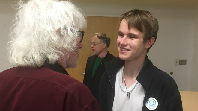 Bailey Burch-Belanger, the None of the Above Party's Nickel Belt candidate, is easily the youngest in the race.