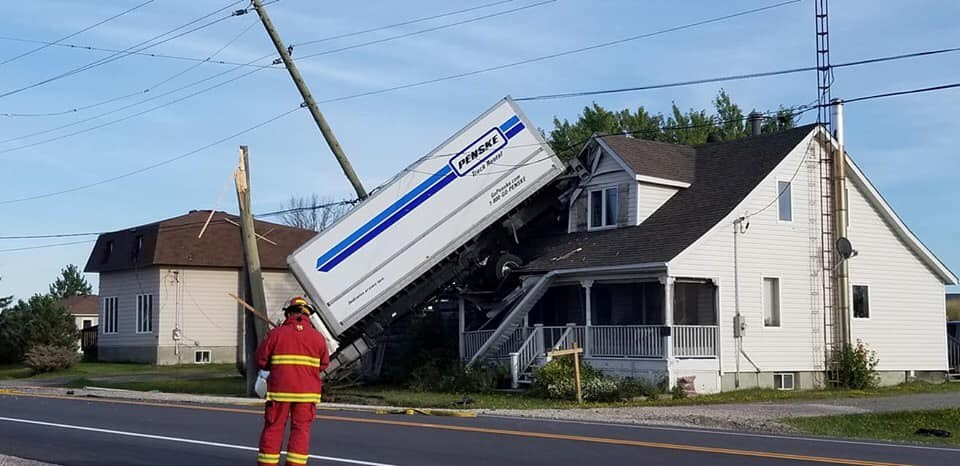 Ontario Provincial Police have closed off a section of Highway 64 in Alban between Courchsene Road and Highway 607 due to downed power lines. (Supplied)