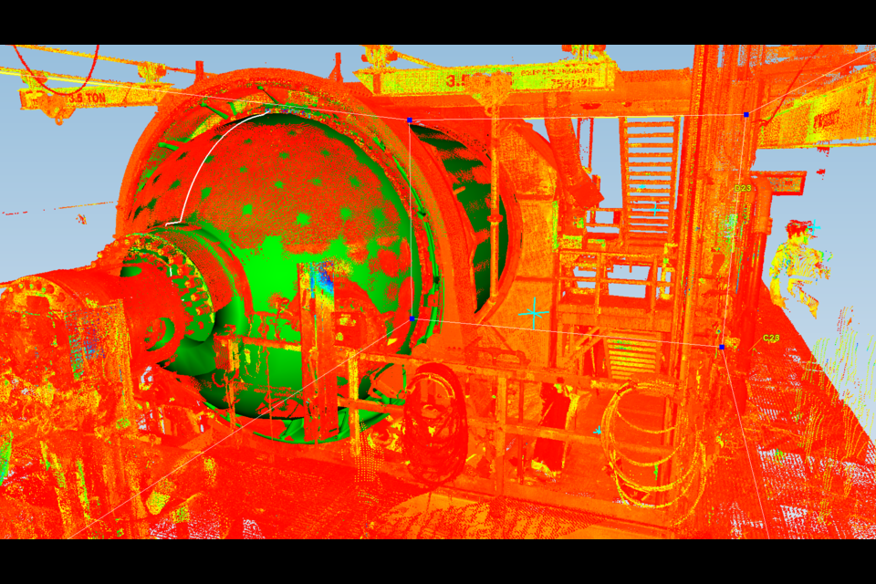 Detailed 3D image of a reactor produced by Makami's innovative P50 scanner. (Supplied Photo)