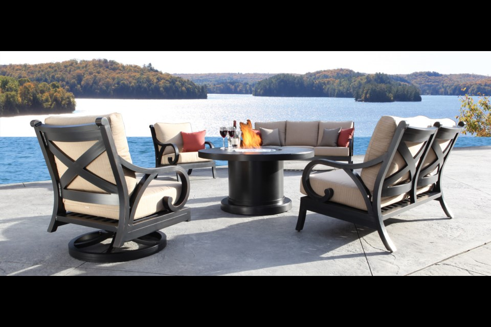 Cabana Coast Cast Aluminum Outdoor Furniture available at Diggs and Dwellings