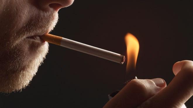 Eating cigarettes death red cigarette trouser suit