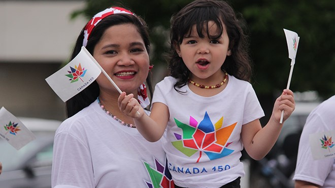 Canada 150 celebrations kicked off July 1 with a parade from Memorial Park to the Sudbury Community Arena in Downtown Sudbury. (Callam Rodya/Sudbury.com)