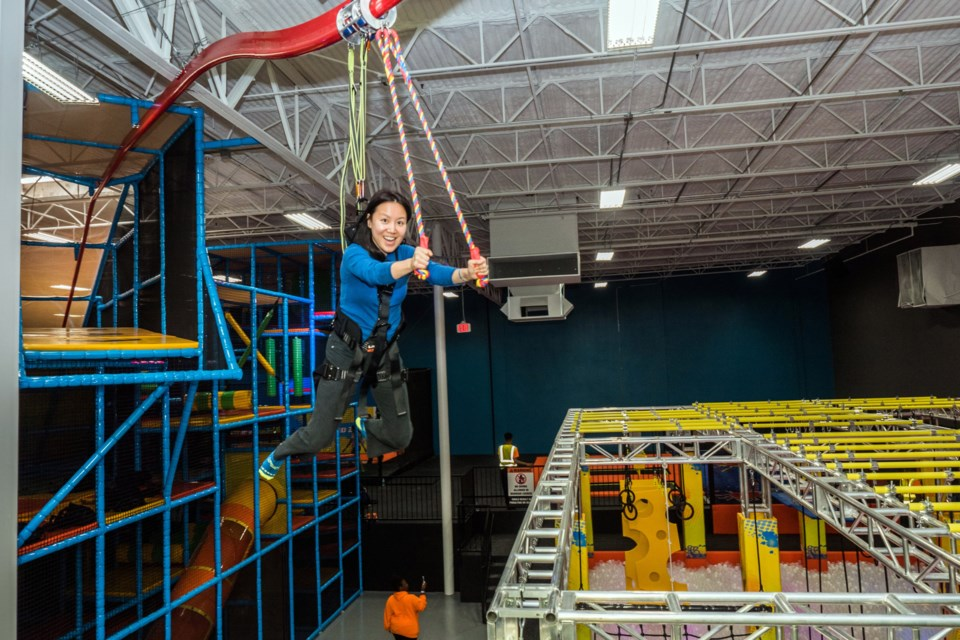 Urban Air Adventure Park Sudbury will be an indoor park filled with wall-to-wall trampoline areas, dodgeball courts, slam dunk and runway tumble tracks, an obstacle course, warrior battle beam, and the company's trademark Urban Warrior Course. (Supplied)