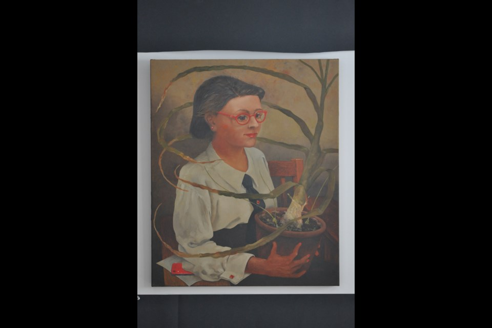 "Dennis Geden's ""Sea Onion with Botanist"" is seen here. (Supplied)"