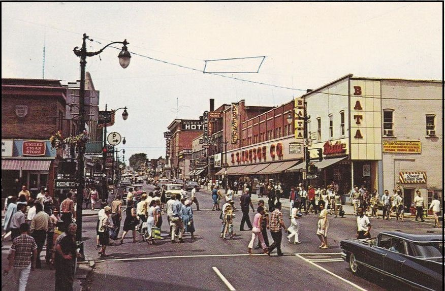 A busy Durham Street in downtown Sudbury, circa 1969. S.S. Kresge's can be seen on the right. (Archive)