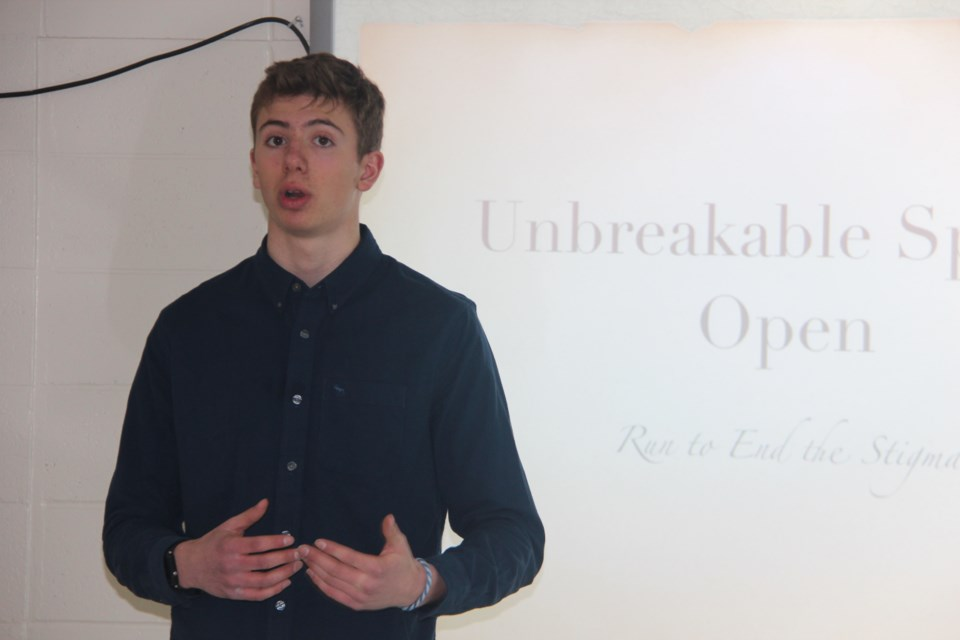 Josh Tillson, 16, has organized the Unbreakable Spring Open, an April 23 fundraising run, to raise money to bring a youth mental health running program to the city and at the same time target mental health stigma. (Heidi Ulrichsen)