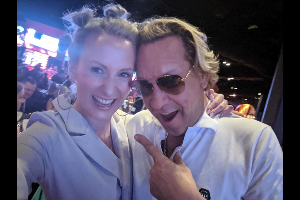 KiSS 105.3 morning host Shannon King (left) and 'Dragon's Den' television personality Michael Wekerle (right), at Rebel Nightclub for the Canadian Music Week awards ceremony (Supplied)