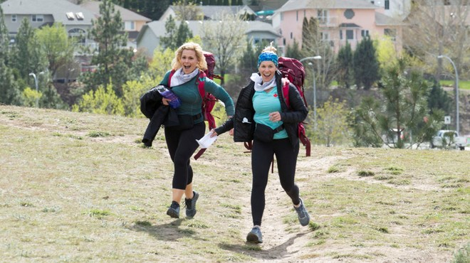 Trish Omeri (left) and her partner Amy De Domenico (right), for the seventh season of Amazing Race Canada. (Supplied)