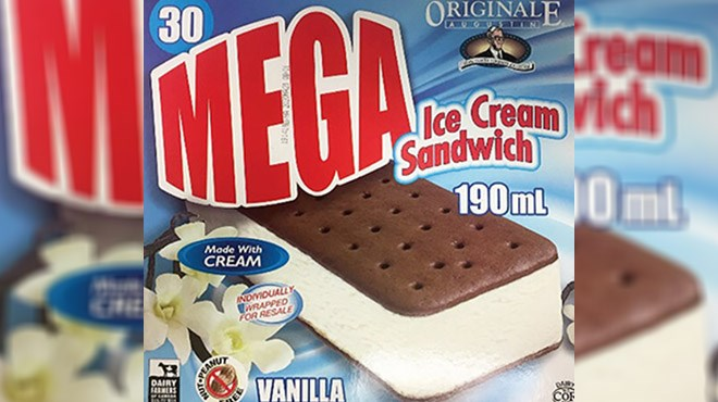 Agropur Cooperative is recalling Iceberg brand and Originale Augustin brand ice cream sandwiches from the marketplace as they may contain fine metal particles. (Supplied)