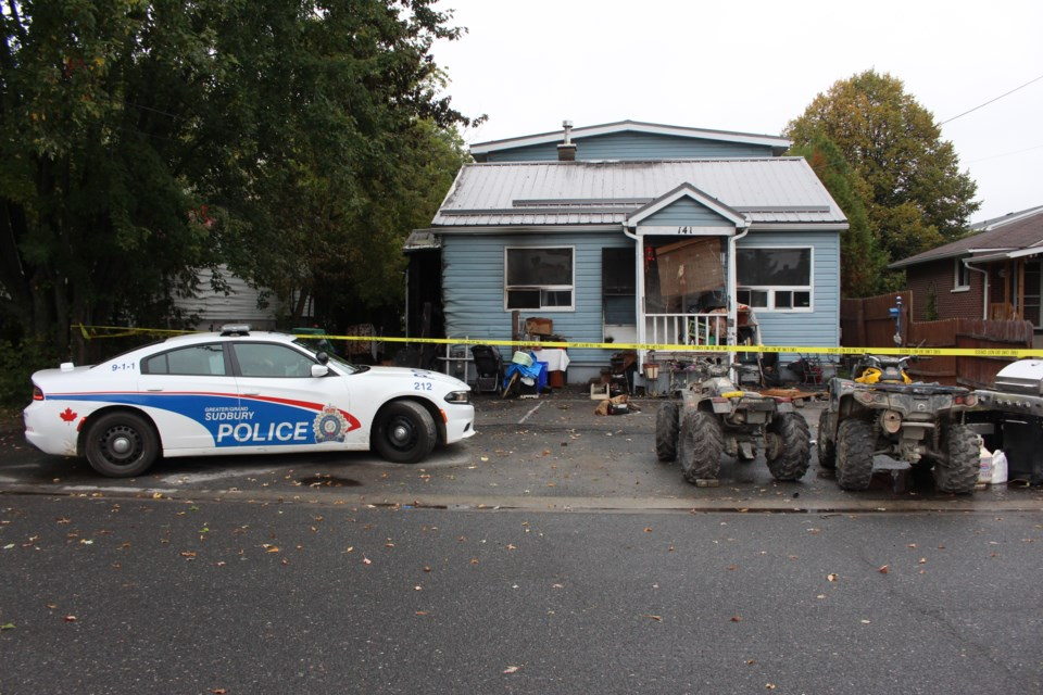 Structure fire on Charette Avenue in Chelmsford Sept. 21 displaces eight residents and causes more than $150,000 in damage. (Keira Ferguson/ Sudbury.com)