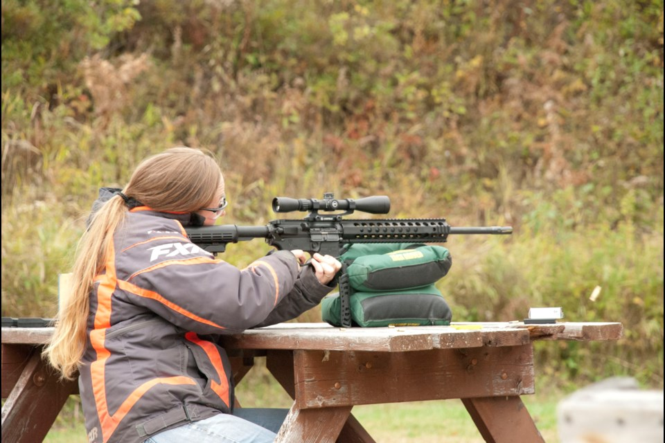 The Crean Hill Gun Club partnered with Glock earlier this month for a women's range day that raised funds for Voice for Women and women's programming through Hemophilia Ontario. (Supplied)