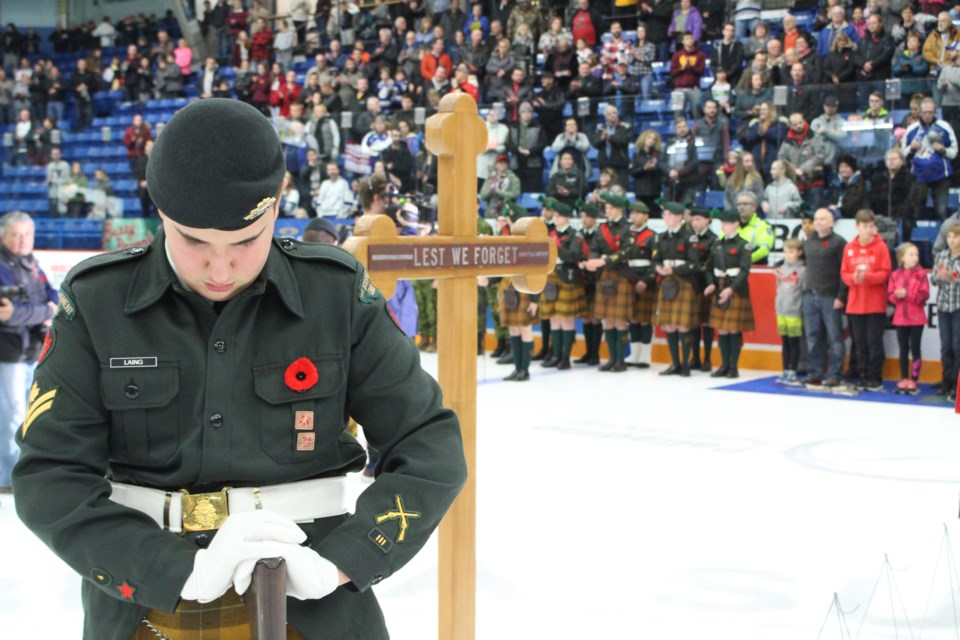 The Sudbury Wolves hosted their annual Remembrance Day and Military Appreciation game on Friday, Nov. 8. (Matt Durnan/Sudbury.com)