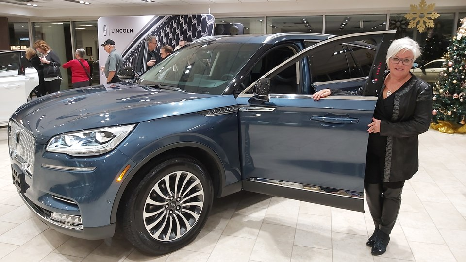 Josee Belanger-Leroux, dealer principal at Belanger Ford Lincoln unveiled the all new 2020 Lincoln Aviator and Corsair on Nov. 21. (Supplied)