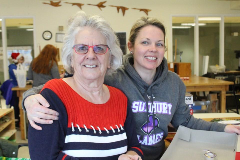 Home Instead Senior Care hosts a wrapping party at the YMCA Parkside Centre. (Keira Ferguson/ Sudbury.com)