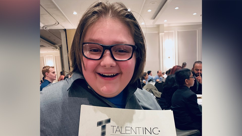 Out of the more than 300 young aspiring actors who attended the Talent Inc. showcase in Toronto Feb. 6-9, Sudburian Damian Brush was among 11 other Canadian actors to receive a scholarship to the Talent Inc. showcase in Manchester, U.K. this October. (Supplied)