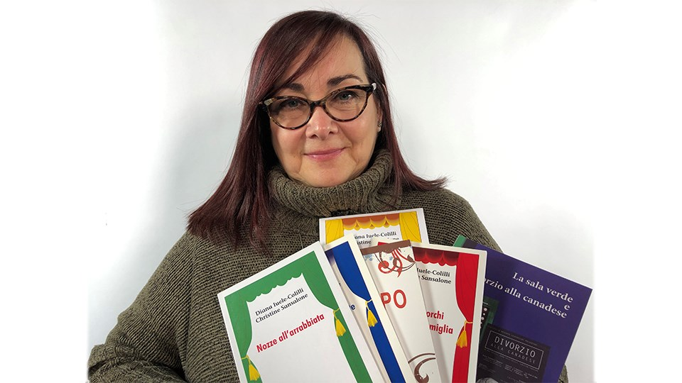 Laurentian University language and literature professor Diana Iuele-Colilli co-wrote 12 stage plays in around a patois language created by Italian immigrants and has spent the last 20 years creating an Italiese dictionary in order to document the language. (Heather Green-Oliver/Sudbury.com)