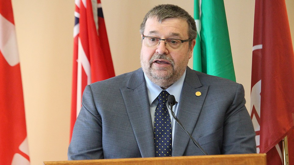 Robert Haché, president and vice-chancellor of Laurentian University. (Keira Ferguson/Sudbury.com)