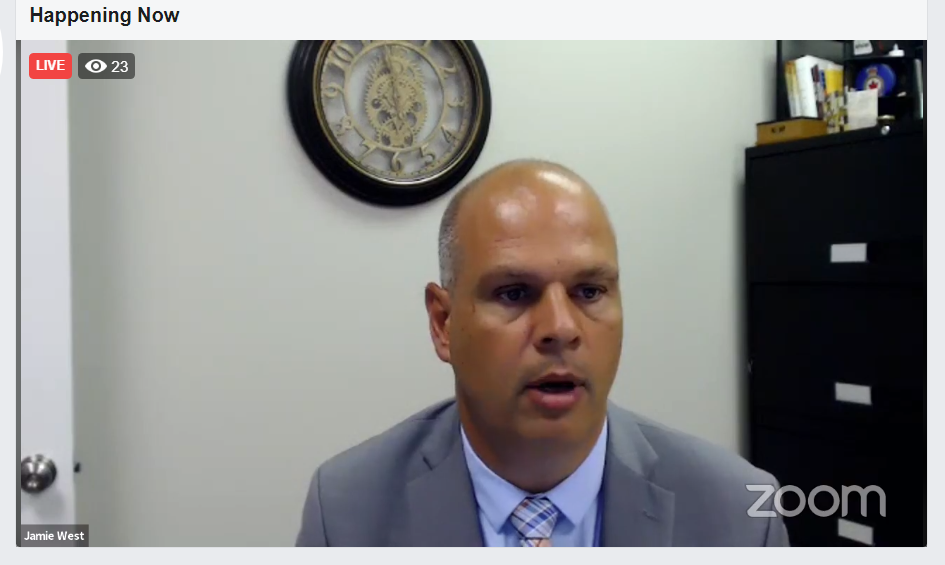Sudbury MPP Jamie West hosted a town hall July 28 to discuss long-term care concerns in Ontario. (Screen capture)