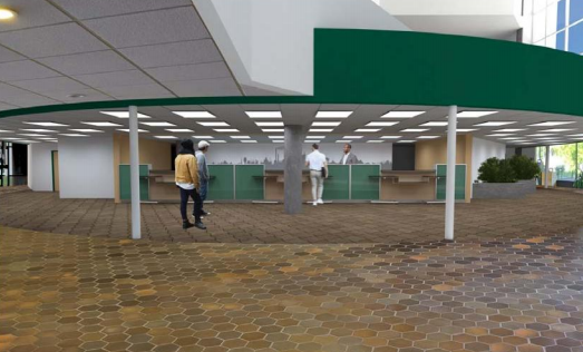 Greater Sudbury city council will weigh in on a staff recommendation to transfer $464,000 from the capital holding reserve in order to start construction on a renovation at Tom Davies Square. (Concept drawing).