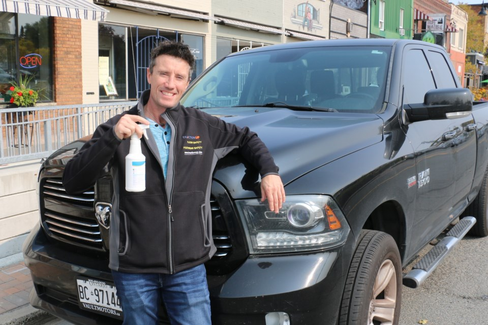 Sudbury entrepreneur Sean Patrick has created a new type of non-alcoholic hand sanitizer that he says is good for your hands.