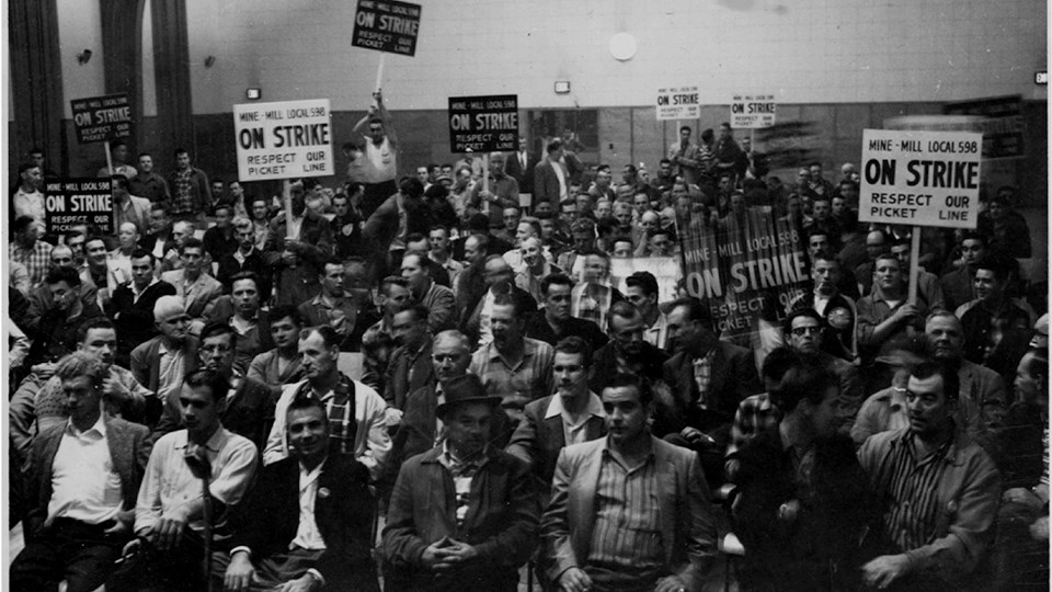 Local 598 on the eve of the 1958 Inco strike. (Supplied)