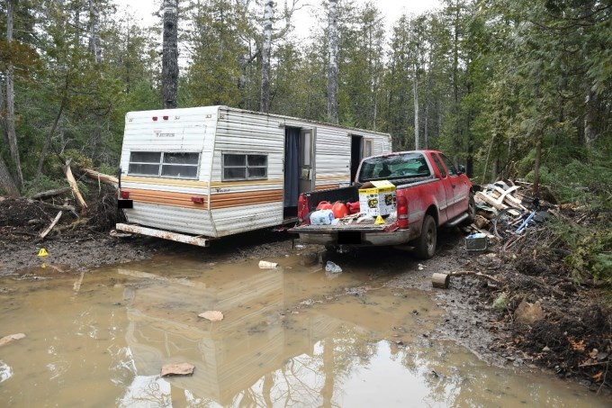 This photo shows Gary Brohman's trailer and pickup truck. (Supplied)