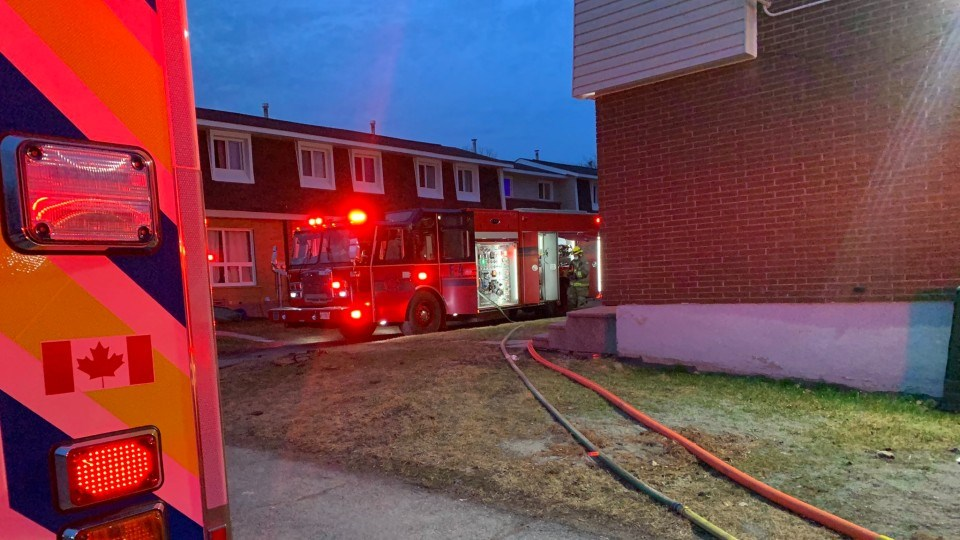 Three people have been taken to hospital with life-threatening injuries following a house fire on Bruce Avenue early this morning.
