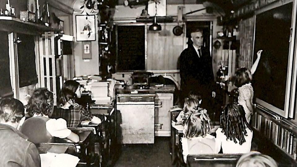 The School on Wheels ran until 1967. (Courtesy of Cassidy Foxcroft)