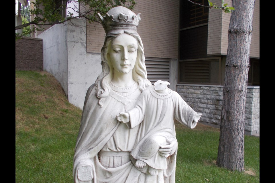 Damage done to the statue of Mary and baby Jesus on the property of Pariosse Sainte-Anne Des Pins Catholic church in Sudbury is just one example of an increasing number of incidents where wilful damage is being done to church property.
