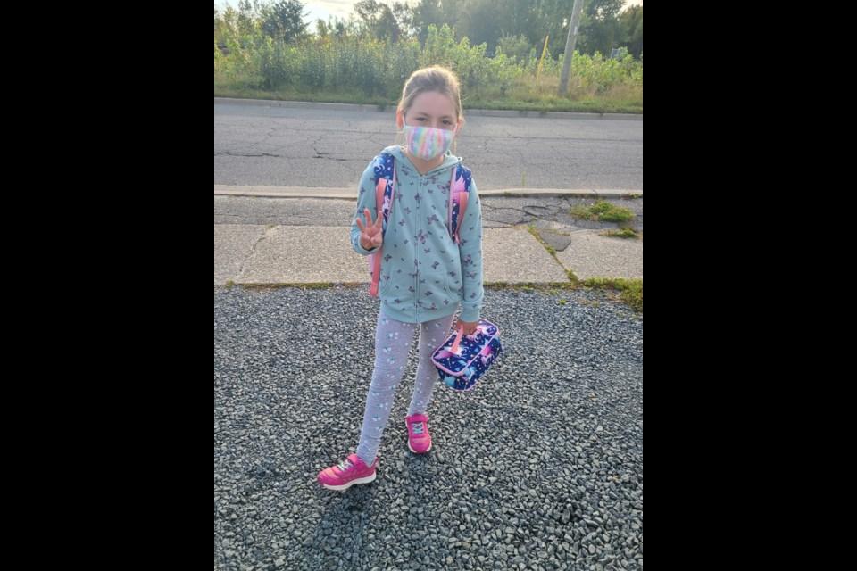 Mackenzie started Grade 3 today. (Supplied/Dominique Perron)
