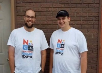 Northern Game Expo founders Michael Shanks and Bradley Davidson are seen at a past event.