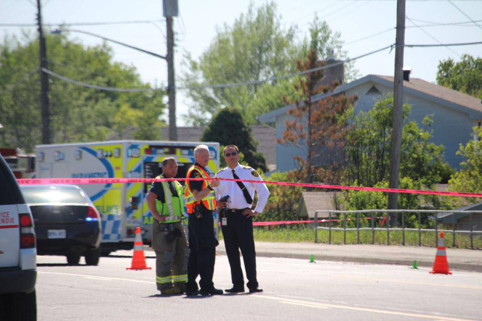 Greater Sudbury Police said in a tweet this afternoon that all available evidence points to the fact the collision that killed an elderly Garson man on Monday was accidental. (Allana McDougall/Sudbury.com)