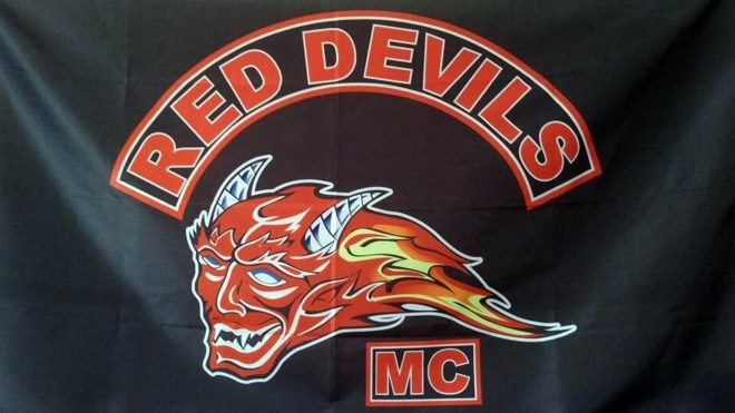 A joint operation involving police services in Sudbury, Ottawa and Niagara, as well as the OPP, arrested several people this week associated with outlaw motorcylce clubs like the Red Devils MC, a farm team for the Hells Angels. (Supplied)
