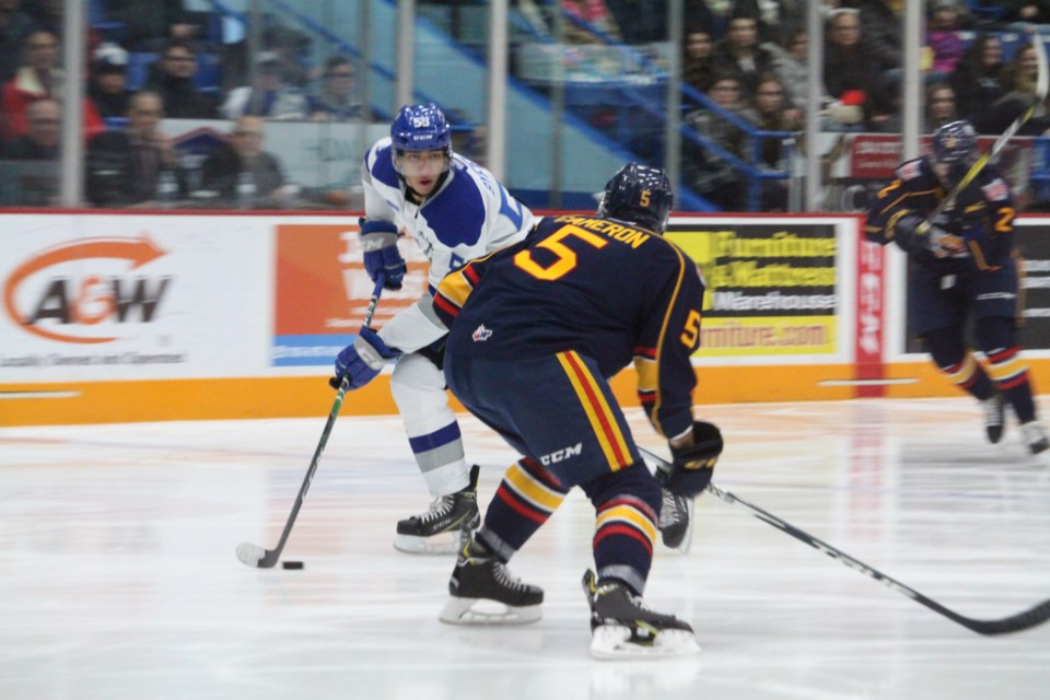 Sudbury Wolves defeat the Barrie Colts 3-2 in overtime at the Sudbury Arena. (Matt Durnan/ Sudbury.com)