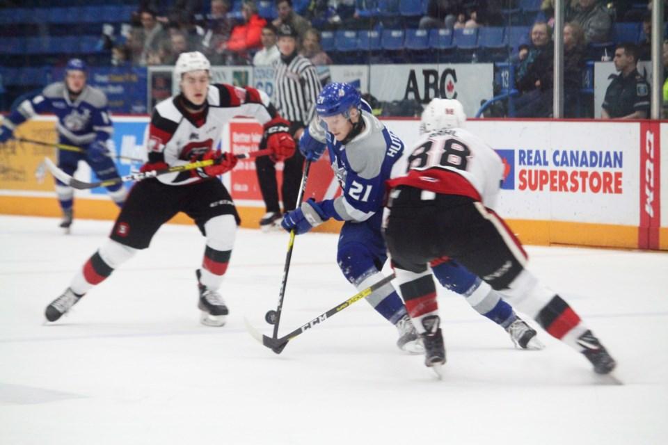 Sudbury Wolves shutout league-leading Ottawa 67's 2-0 at Sudbury Arena. (Keira Ferguson/ Sudbury.com)