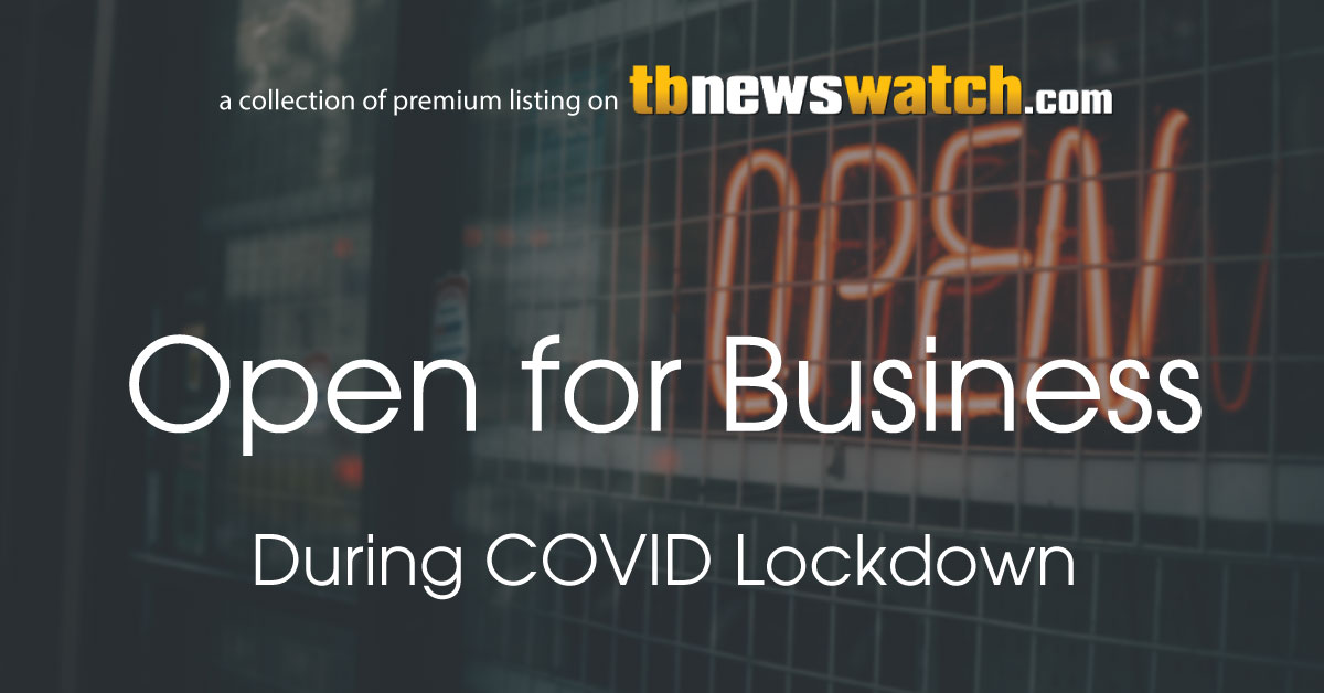 OPEN FOR BUSINESS During COVID lockdown