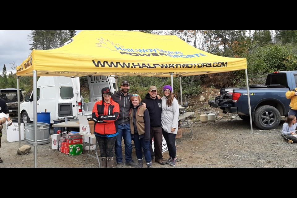 Half-Way Motors Staff  left to right: Kiirsti Kellar, Daniel Trevisanutto, Erin Trevisanutto, Matt McCourt, Nadia Trevisanutto