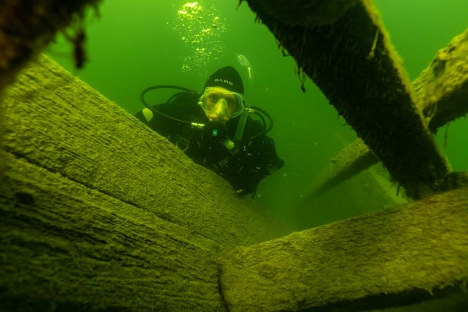 Karyn Prosyk on the Mary E. McLachlan shipwreck