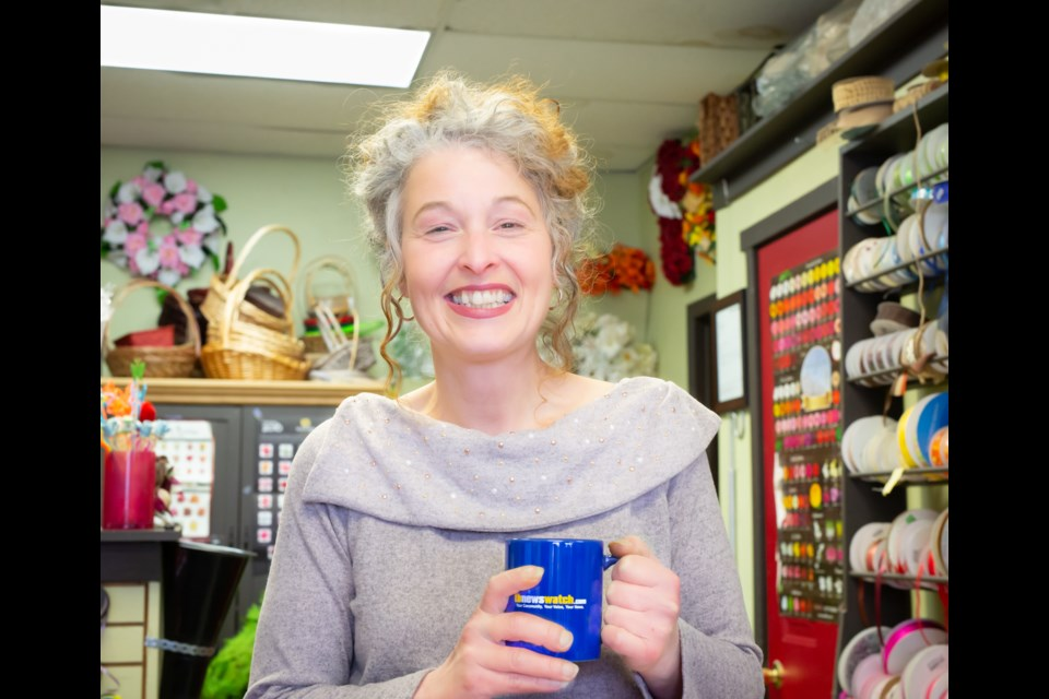 Angel Phillips owner of From the Heart Florist. (Photo by Ayano Hodouchi-Dempsey)